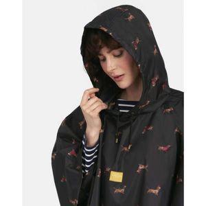 Tom Joules fekete eső poncsó tacskókkal kép