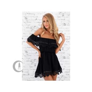Elegáns női nyári ruha fekete + INGYENES KÉZBESÍTÉS kép