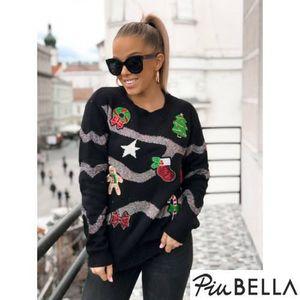 Christmas Jumper Black - Karácsonyi mintás pulóver kép