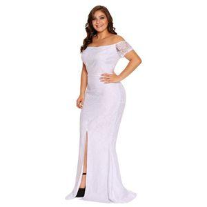 Fehér csipkés alkalmi maxi ruha kép