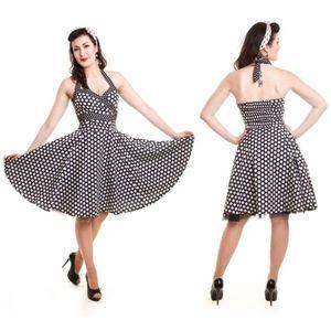 Barna fehér pöttyös ruha | Alkalmi ruha | vintage, pin up