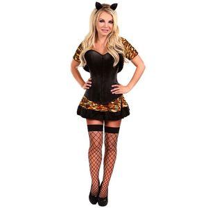 Szexi fekete tigrises jelmez kép