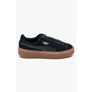2019 Puma Suede Platform Női Cipő 365830 01 (Fekete