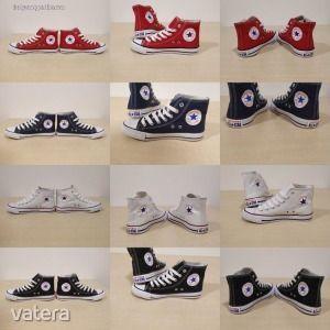 Női- férfi tornacipő, magas szárú Converse/ 36-46 méret / ÚJ! -mérettáblázat - SAJÁT KÉPEK kép