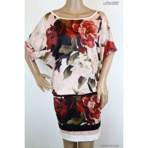 Gyönyörű virágos ruha 3-as új!-címkés kép