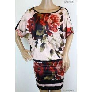 Gyönyörű virágos ruha 1-es új!-címkés kép