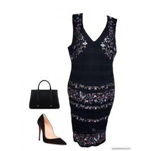 Star by julienmacdonald hímzett fekete csipkés ruha, MOLETTI , 48-as, 1Ft kép