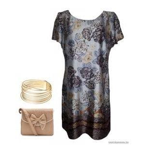 M&Co, Boutique, virágos, bordűrös ruha, 44-es , 1Ft kép