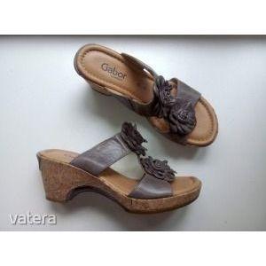 ÚJ!! GABOR bőr komfort papucs - pici sarokkal 38.5-39-es G-széles Bolti állapotú!! kép