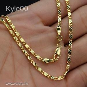 1Ft 18K Arany GF Kubai lánc mintás Uniszex nyaklánc 50cm női férfi kép