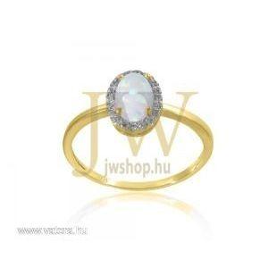 Sárga arany, opál köves gyűrű - 13 kép