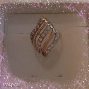 14K köves arany gyűrű ÚJ kép