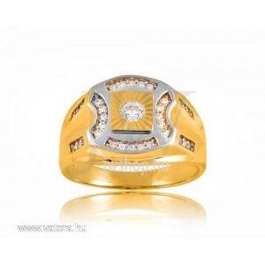 Arany férfi pecsétgyűrű - 8 kép
