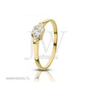 Sárga arany, köves gyűrű - 77 kép