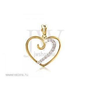 Arany, szív medál - 204 kép