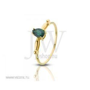 Sárga arany, köves gyűrű - 80 kép