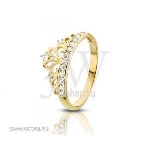 Sárga-fehér arany, köves gyűrű - 72 kép