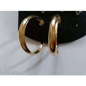 Női ruha és ékszer vásár Új arany színű karika kapcsos fülbevaló kép