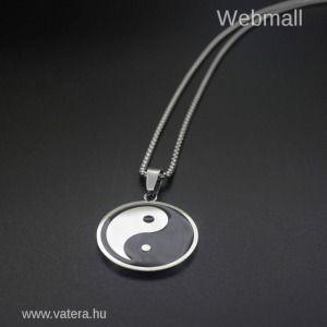 Yin Yang nemesacél nyaklánc medállal kép