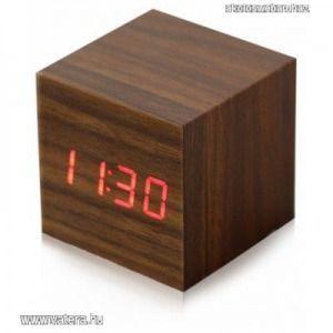 Design Fa Digitális ébresztő Led óra érintésérzékeny, hangvezérlés - Kicsi kép