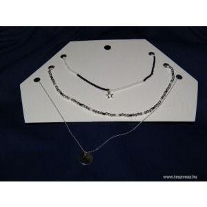 ÚJ H&M hármas csillagos-gyöngyös nyaklánc szett kép