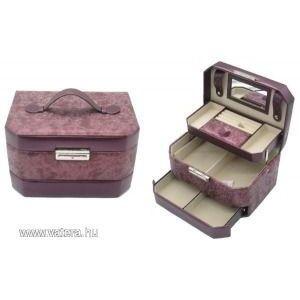Ékszertartó doboz, ékszerdoboz bőrhatású, többféle színben kép
