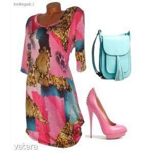 Szupercsinos zsebes nyári női ruha XL ÚJ kép