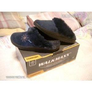 Női téli papucs Walkmaxx sötétkék 39-es kép