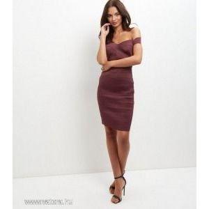 New Look bordó molett sztreccs szexi ruha 46 UK18 kép