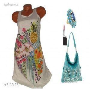 Mintás nyári női ruha L ÚJ kép