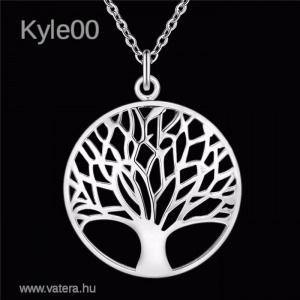 1Ft Ezüst Életfa kör alakú medál női Nyaklánc kép