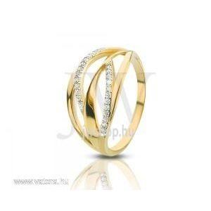 Sárga arany, köves gyűrű - 71 kép