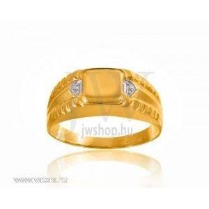 Arany férfi pecsétgyűrű - 3 kép