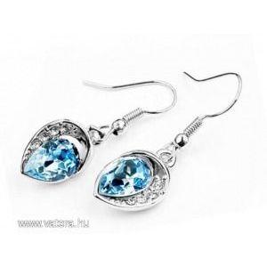 Swarovski kristályos fülbevaló Kék kővel kép