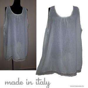 "Made in Italy, lenge , csipkés , ""A"" vonalas fehér tunika, MOLETTI mell 144 cm, 1Ft kép"