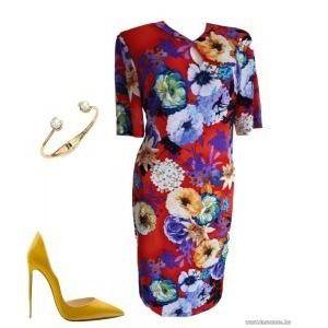 Kim&Co, 44-46-o virágos ruha, nyaknál kivágott, 1Ft kép