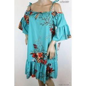 vállvillantós virágos lezser ruha (olasz) új!címkés kép