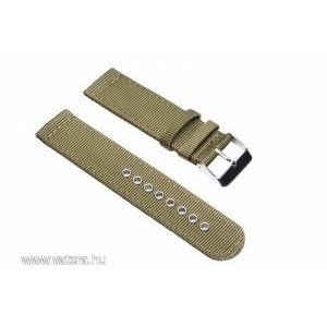 Kétrészes NATO szíj, military zöld, 20mm kép
