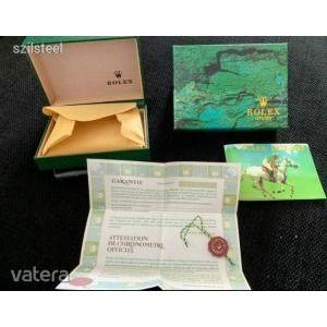 Rolex doboz, bőr/fa repl. órásdoboz + kiegészítők - ÚJ! Készleten kép