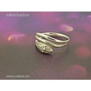 Kobrás női ezüst gyűrű, kígyó gyűrű , kobra Minden méretben! kép