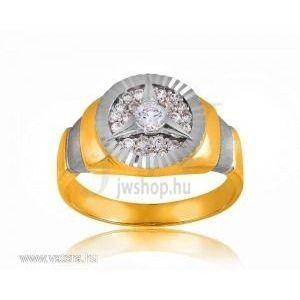 Arany férfi pecsétgyűrű - 7 kép