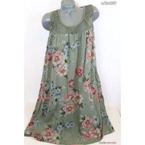 Gyönyörű A -vonalú virágos ruha (olasz) új!címkés kép
