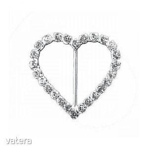 Bross szív 2cm ezüst s/2 kép