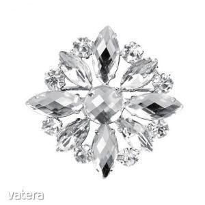 Bross virág 4cm ezüst kép