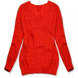 Butikmoda Neon narancsszínu kötött pulóver kép