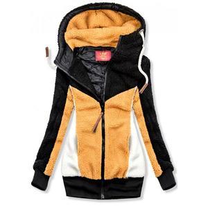 Butikmoda Fekete és sárga színű szőrme dzseki kép