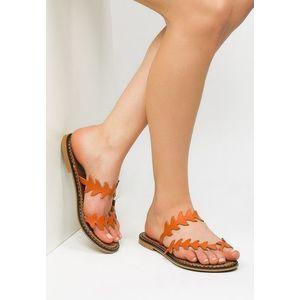 Enamour narancssárga bőr papucs kép