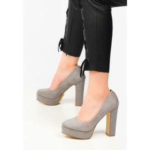 Silk szürke magassarkú cipők kép