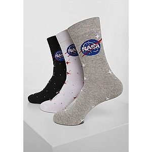 Mr. Tee NASA Insignia Socks 3-Pack black/grey/white kép