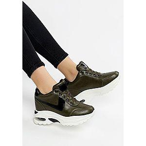 Eluno zöld telitalpú sneakers kép